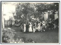 Théâtre, en Egypte  Vintage silver print.  Tirage argentique  13x17  Circa