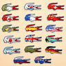 1pc National Flags Alligator Embroidered Sew Iron On Patches Badge Appliques DIY