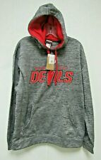 NHL New Jersey Devils Embroidered Logo Gray Pullover Hooded Sweatshirt Large