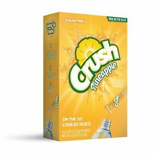 CRUSH ON-THE-GO Sugar Free PINEAPPLE Powdered (6 Packet x 1 Box) FREE Shipping