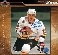 PAVEL BURE Signed & Inscribed Vancouver Canucks 8 X 10 Photo -70387