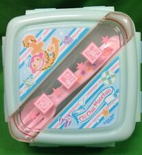 Sanrio Chi Chai Monchan Monkey Deluxe Lock Lunch Container Fork Spoon 2007 NEW