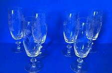 6 Vintage Champagne Glasses with Flower pattern