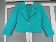 Weinberg-Paris Ladies Vintage Green Wool Tailored Jacket Size XS