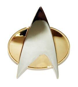STAR TREK Next  Generation orig. Communicator Pin  Metall neu