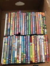 Lot Of 46 Kids DVD Barney Thomas Bob Builder Care Bears Etc Wholesale Bulk Lot