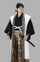 Japanese Samurai Bushi Jacket Jinbaori Long Cosplay Kimono White New