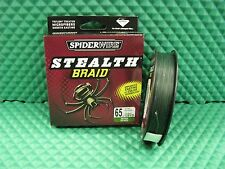 Spiderwire Stealth 65lb 125yd MOSS GREEN Braid Fishing Line SS65G-125