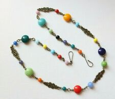 Vintage Czech Glass Harlequin Style Beaded Glass Necklace*