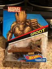 HOT WHEELS CHARACTER CARS - GROOT - MARVEL 2017 NEW ON CARD MINT