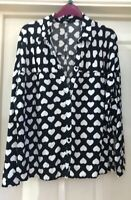 George Black Heart Blouse Size 12