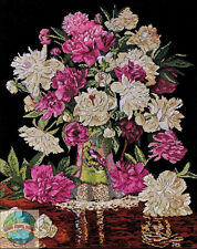 Cross Stitch Kit ~ Design Works Renaissance Era Artwork Peonies Vase #DW2800