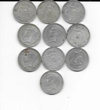 1 lot de 10 pieces de 20 francs albert 1er 1934 argent