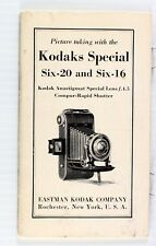 Original Kodak Special Six-20 & Six-16 Camera Instruction Manual - printed 1937