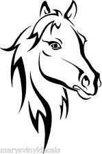 Pretty Horse Head 4-H Vinyl Decal Sticker Car Window Trailer Black or White