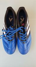 Adidas SOCCER BOOTS - BLUE & BLACK WITH WHITE STRIPES - WORN ONCE