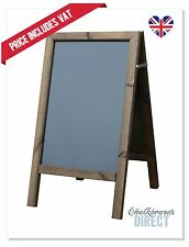 WOODEN A BOARD PAVEMENT SIGN CHALKBOARD ADVERTISMENT (SFF)