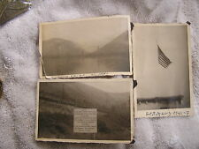 Vintage Lot of 3 post Cards Germany Rhine War Sign American Flag
