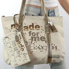 NWT Coach Poppy MADE FOR ME Shoulder Bag Tote & Wristlet 14979 43776 New RARE