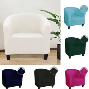 Smooth Elastic Stretch Tub Chair Cover Armchair Single Seat Sofa Full Slipcover