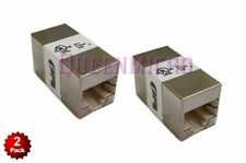 2 x CAT5e Shielded Ethernet RJ45 InLine Modular Coupler Adapters Cable Extender