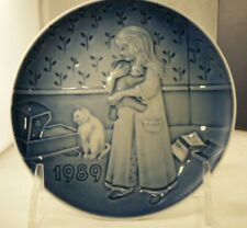 """1989 Bing & Grondahl Children's Day Plate """"Bed Time"""" No Box"""