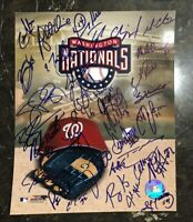 2007 WASHINGTON NATIONALS TEAM AUTOGRAPH SIGNED AUTO BASEBALL PHOTO 8x10 23+ SIG