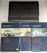 LAND ROVER DISCOVERY 3 HANDBOOK OWNERS MANUAL WALLET NAVIGATION 2004-2009 M-203!