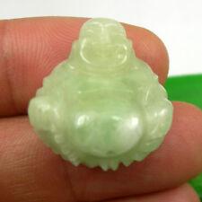 40.5 carats Light Green Natural Chrysoprase Lucky Happy Buddha Pendant 8.1 grams