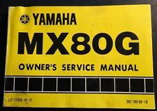 1980 YAMAHA MOTORCYCLE MX80G OWNERS MANUAL LIT-11626-01-77 (414)