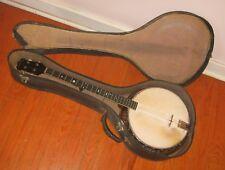 "1910s Dayton ""The Dayton"" Tenor Banjo w/ Original Case. Repair Project."