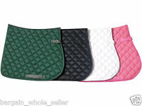 EQUESTRIAN HORSE RIDING SOFT FULL SADDLE PAD CLOTH NUMNAH WITH FLEECE LINNING