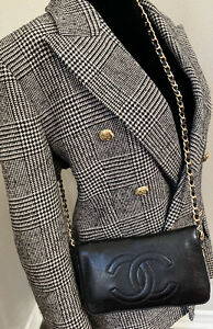 CHANEL Classic Flap Chained Wallet WOC Wallet On Chain Purse