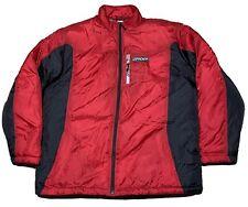 Spyder Puffer Jacket Red Size Large Bubble Down Jacket Euc