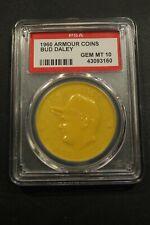 Rare 1960 Armour Coins Bud Daley Athletics Yellow Gem Mint 10