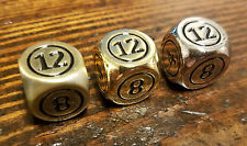 3x Command Zone Metal Dice Gold, Silver & Bronze Color / Commander Tax Magic MTG