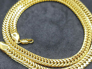 18ct yelow gold filled fine unisex link necklaces 33 grams 500 mm