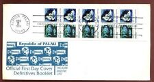 Palau 1984 Fishes Booklet Pane FDC #C7874