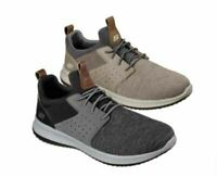 Skechers Delson-Camben Men's Shoes in Taupe & Black/Grey and 6 Sizes