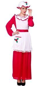 Mrs Santa Claus Mother Christmas Xmas Fancy Dress Costume Plus Size XL 20-24