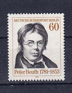 Berlin Briefmarken 1981 Peter Christian Wilhelm Mi.Nr.654 ** postfrisch