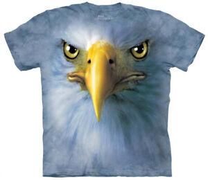 Eagle Face T-Shirt Oversized Mountain Print Animal Bird 100% Cotton Adult