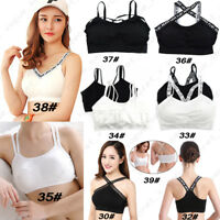 Womens Lady Seamless Padded Sport Bras Bralette Comfort Stretch Crop Top Vest UK