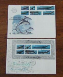 South West Africa 1980 Whales set & Miniature Sheet on First Day Cover