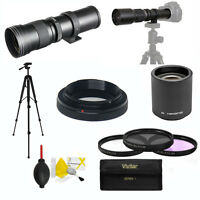TELEPHOTO ZOOM LENS 420-800MM 840-1600MM + ACCESSORIES FOR NIKON D3400 D3100