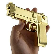 Big Gun Gold Tone Hip Hop Large Glock Metal Fake Pistol Snap-On New Belt Buckle