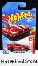 2018  Hot Wheels  Red Custom '15 Ford Mustang   Card #96  HW39-011818