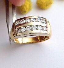 ANELLO DUE ORI 18KT CON  CUBIC ZIROCNIA - 18KT SOLID YELLOW GOLD ZIRCONIA  RING