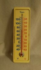 Vintage Taylor Indoor/Outdoor Thermometer Plastic Freezer Wall Mount