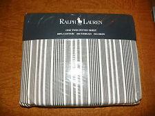 RALPH LAUREN-NEW-TWIN STRIPED FITTED SHEET-URBAN STRIPE-1994-100% COTTON